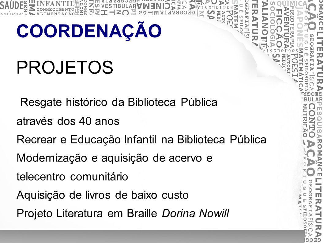 ACERVO LITERÁRIO ATENDIMENTO - CONSULTA - PESQUISA Atendimento ao público nas consultas, pesquisas e empréstimos; Controle de presença de usuários; Registro de novas obras no acervo.