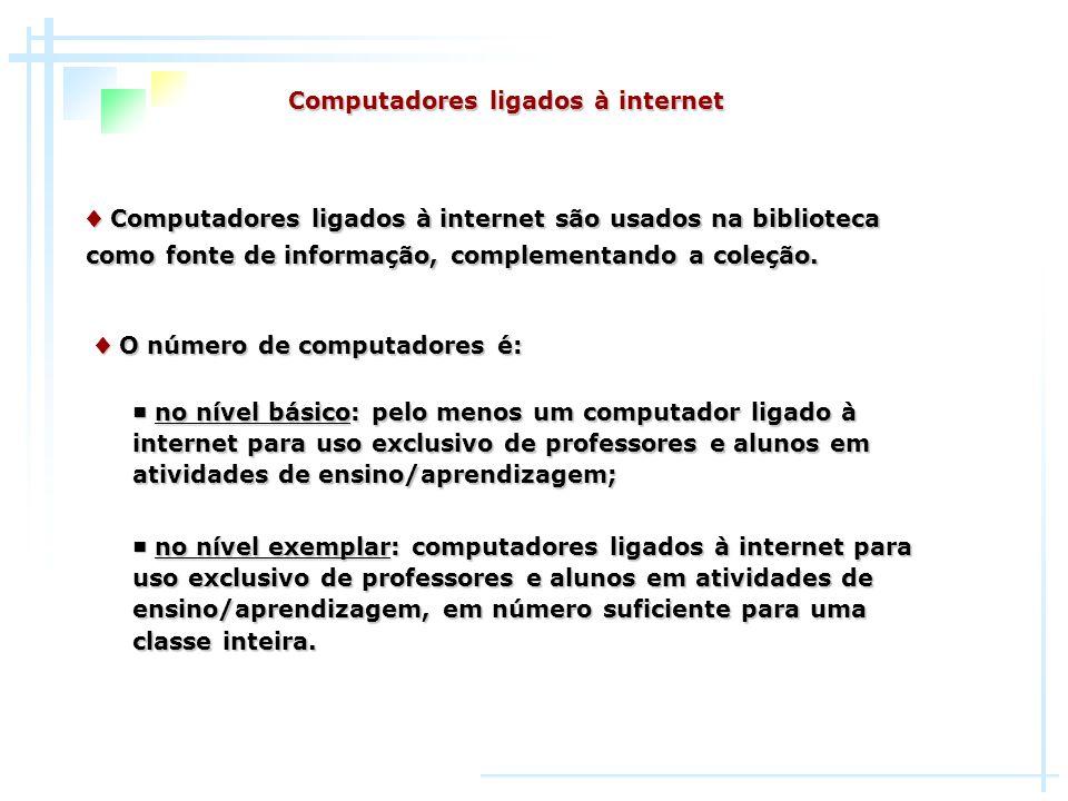 Computadores ligados à internet Computadores ligados à internet são usados na biblioteca Computadores ligados à internet são usados na biblioteca como