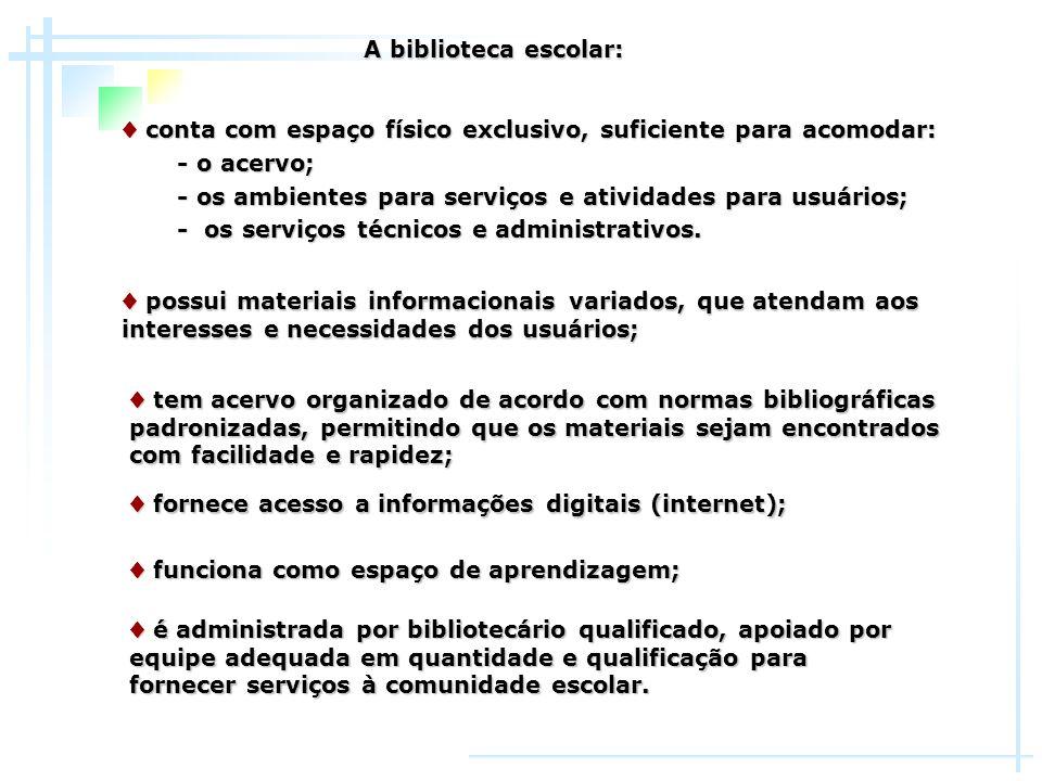 Computadores ligados à internet Computadores ligados à internet são usados na biblioteca Computadores ligados à internet são usados na biblioteca como fonte de informação, complementando a coleção.