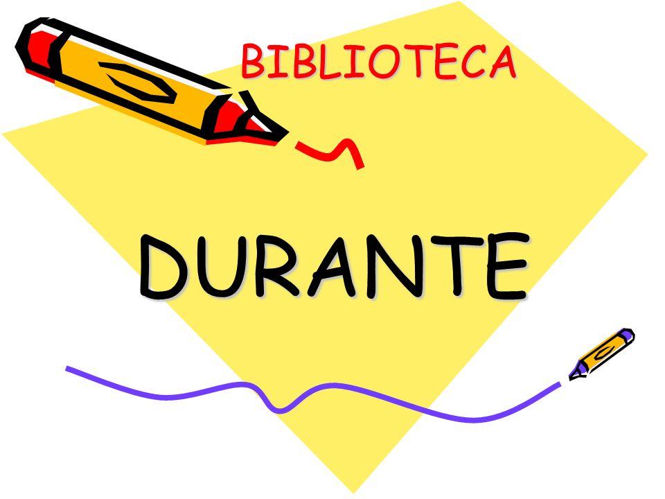 BIBLIOTECA BIBLIOTECA DURANTE