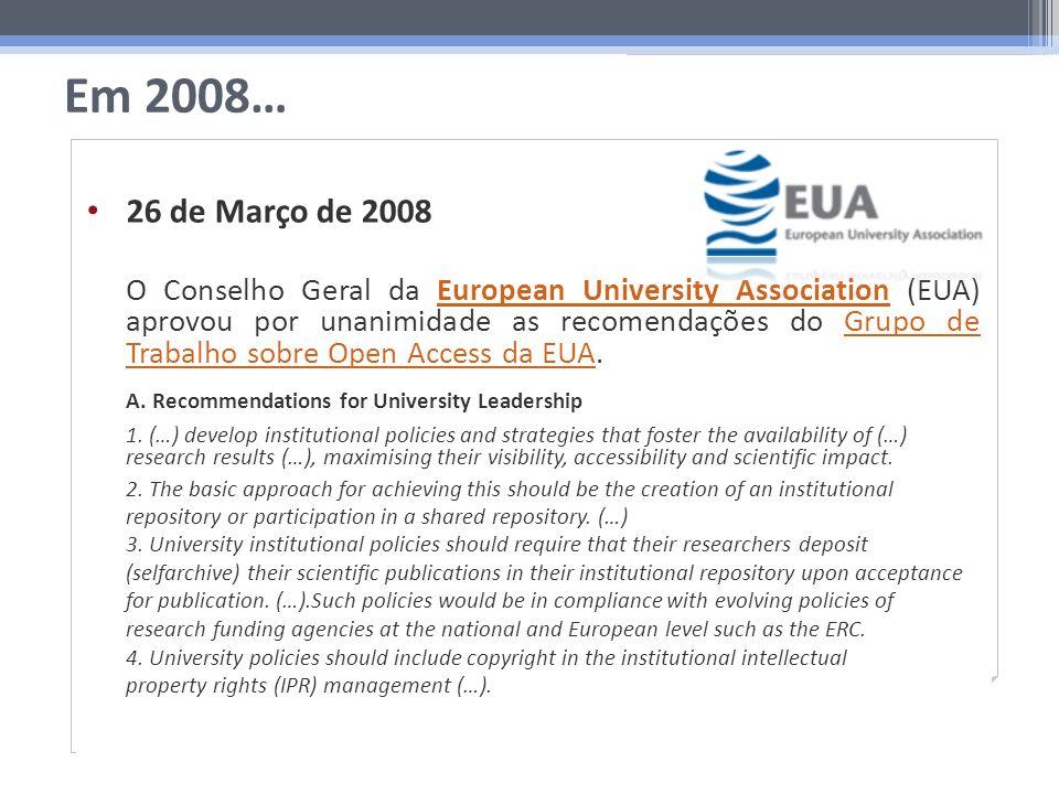 Em 2008… Março 2008 Seg.Ter.Qua.Qui.Sex.Sáb.Dom. 12 3456789 10111213141516 17181920212223 24252627282930 31 26 de Março de 2008 O Conselho Geral da Eu