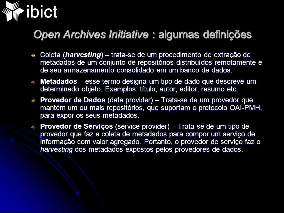 Ideais e princípios dos OA Auto publicação Sistema de armazenamento a longo prazo Política de gestão observando normas de preservação de objetos digitais Uso de padrões e protocolos com vista a solução de interoperabilidade entre as bibliotecas digitais Uso de software open source