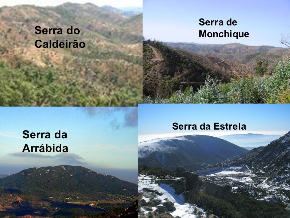 Serra do Caldeirão Serra de Monchique Serra da Arrábida Serra da Estrela