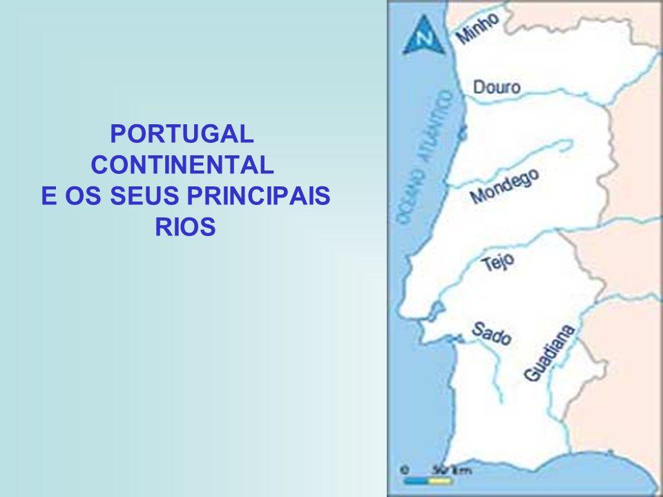 PORTUGAL CONTINENTAL E OS SEUS PRINCIPAIS RIOS