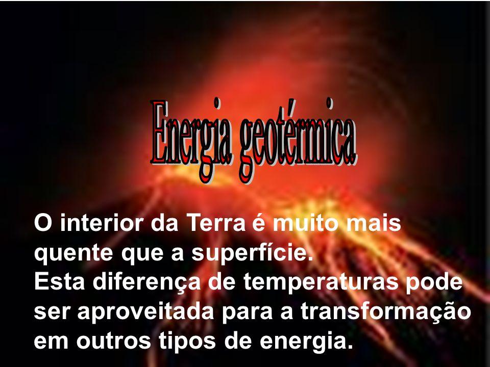 O interior da Terra é muito mais quente que a superfície. Esta diferença de temperaturas pode ser aproveitada para a transformação em outros tipos de