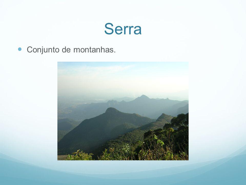 Rio Curso de água doce e permanente que nasce nas montanhas.