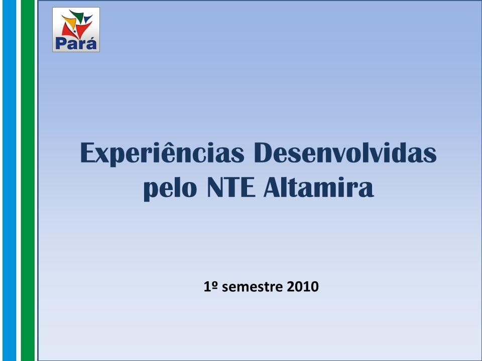 Experiências Desenvolvidas pelo NTE Altamira 1º semestre 2010