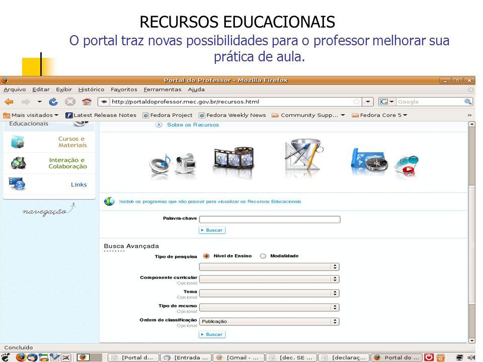 O portal traz novas possibilidades para o professor melhorar sua prática de aula.