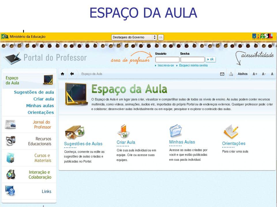 ESPAÇO DA AULA