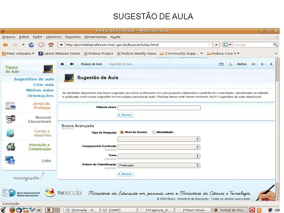 SUGESTÃO DE AULA