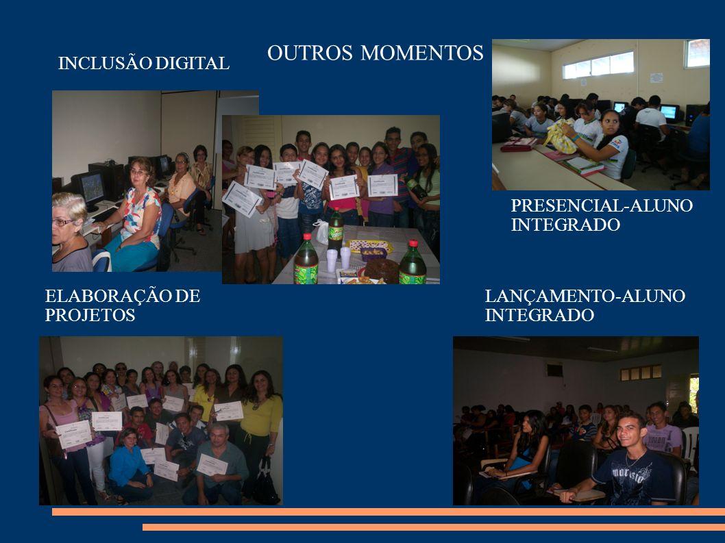 OUTROS MOMENTOS LANÇAMENTO-ALUNO INTEGRADO PRESENCIAL-ALUNO INTEGRADO INCLUSÃO DIGITAL ELABORAÇÃO DE PROJETOS
