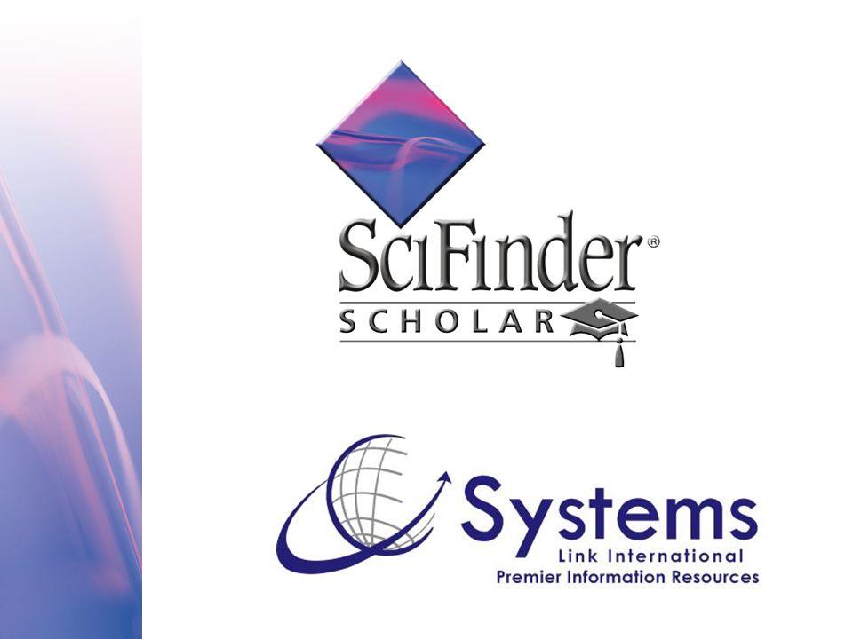Características do SciFinder: Uma única interface de busca O uso de indexadores e termos controlados para refinar e ampliar as buscas O uso de ferramentas de análise para a identificação de correlações entre conceitos