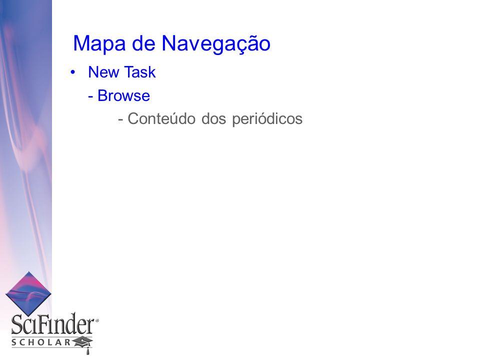 Mapa de Navegação New Task - Browse - Conteúdo dos periódicos