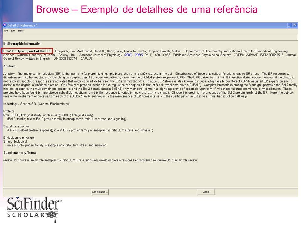 Browse – Exemplo de detalhes de uma referência