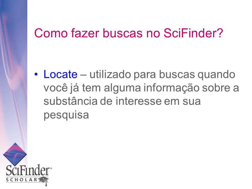Como fazer buscas no SciFinder.