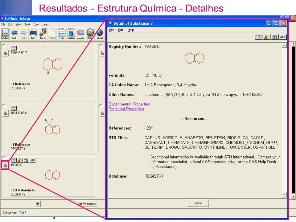 Resultados - Estrutura Química - Detalhes