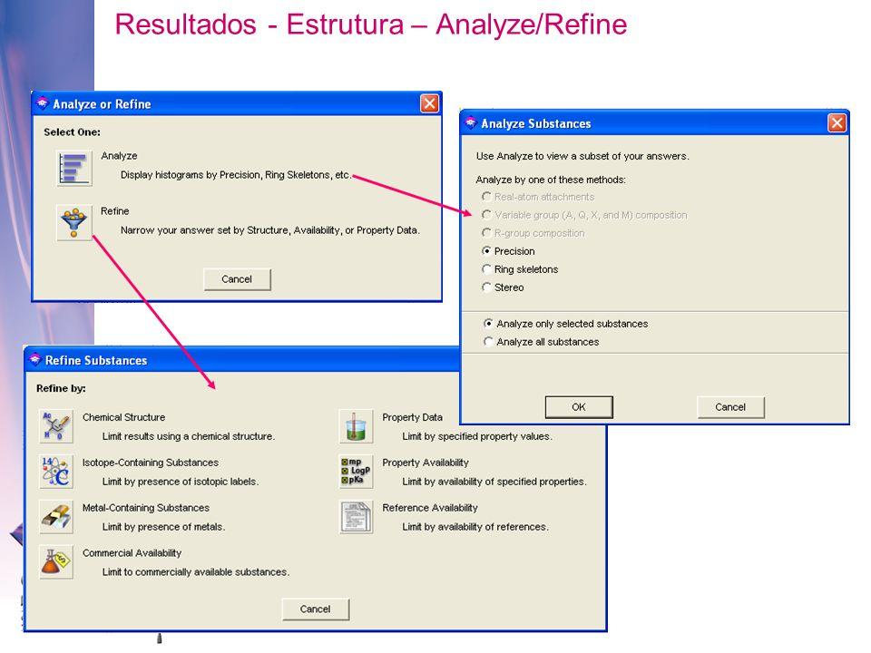 Resultados - Estrutura – Analyze/Refine