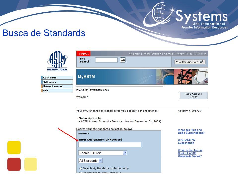 Busca de Standards