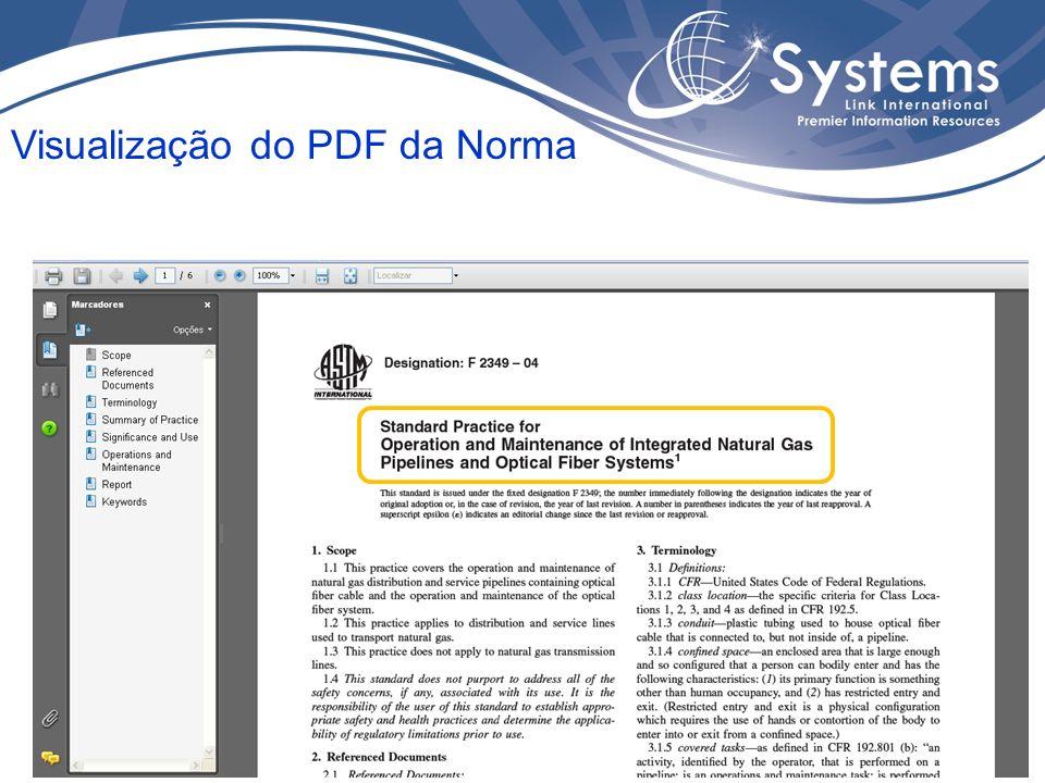 Visualização do PDF da Norma