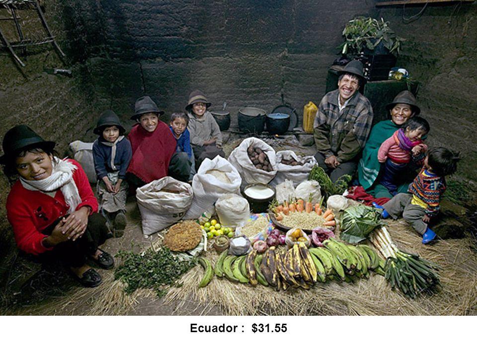 Ecuador : $31.55