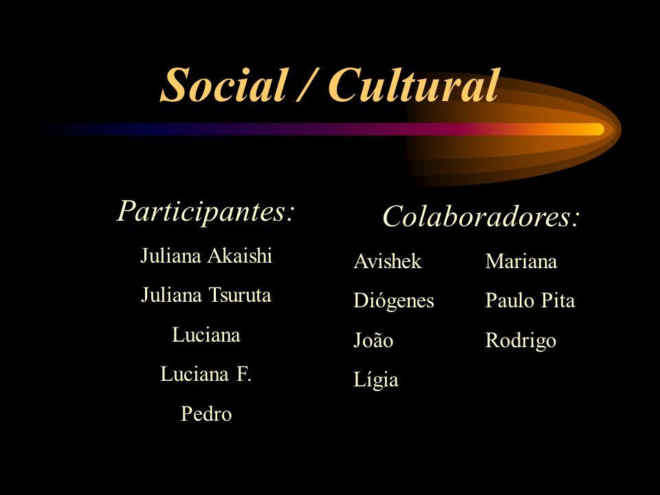 Social / Cultural Participantes: Juliana Akaishi Juliana Tsuruta Luciana Luciana F.