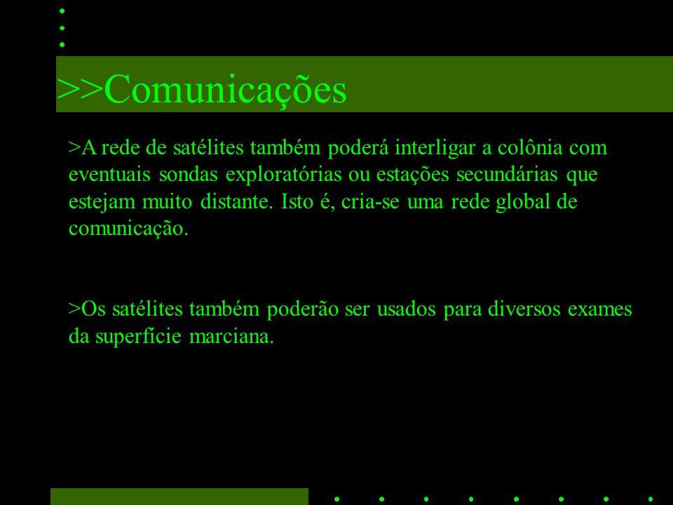 >>Comunicações >Na Terra deverão haver estações terrestres de comunicação dedicadas a Marte.