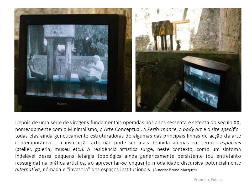 Francisco Palma Depois de uma série de viragens fundamentais operadas nos anos sessenta e setenta do século XX, nomeadamente com o Minimalismo, a Arte
