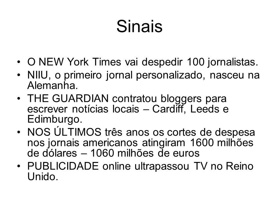 Sinais O NEW York Times vai despedir 100 jornalistas.