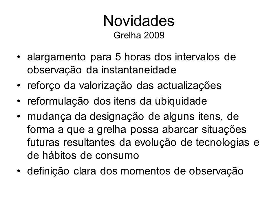 Universo de análise Sites noticiosos portugueses de âmbito nacional TemaGeralEconomiaDesportoAcadém.Total Nov 200622--- Nov 200727--- Nov 20082767242 Nov 2009*29610251 Nov 20102559342 9 * Foram analisados também 4 sites de jornais partidários