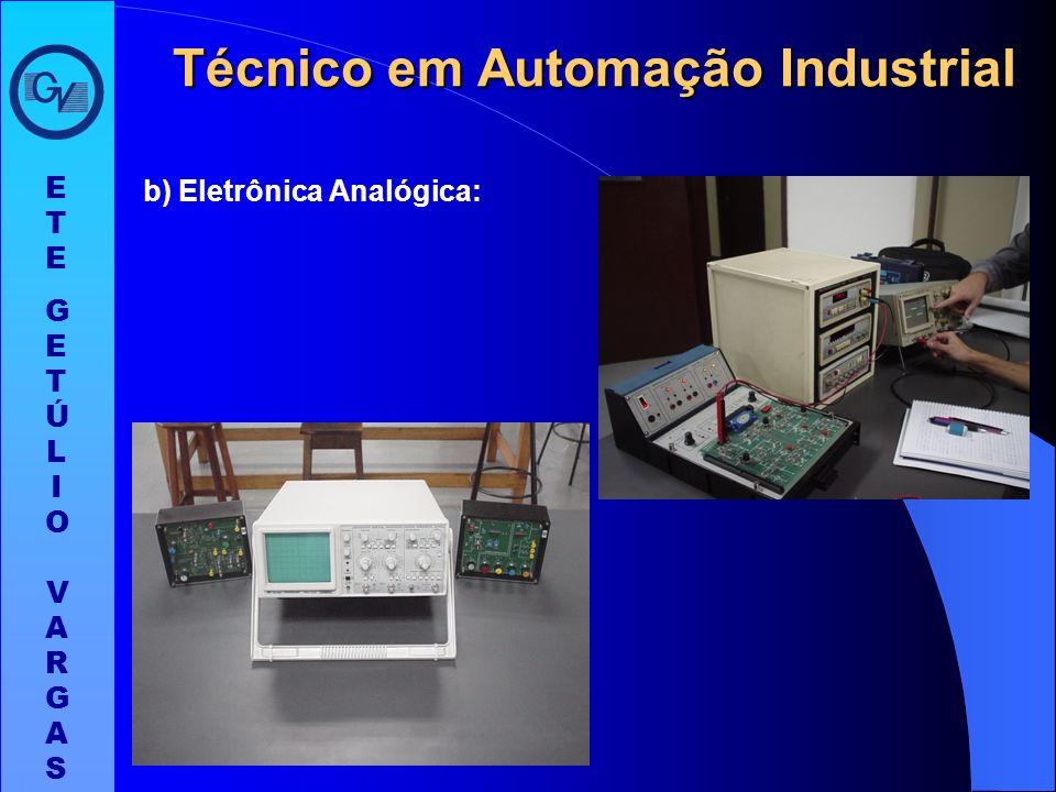 - Laboratórios: a) Eletrônica Digital: ETEGETÚLIO VARGASETEGETÚLIO VARGAS Técnico em Automação Industrial