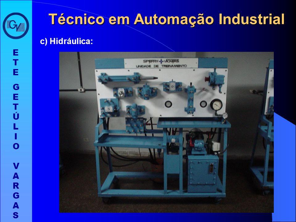 b) Eletrônica Analógica: ETEGETÚLIO VARGASETEGETÚLIO VARGAS Técnico em Automação Industrial