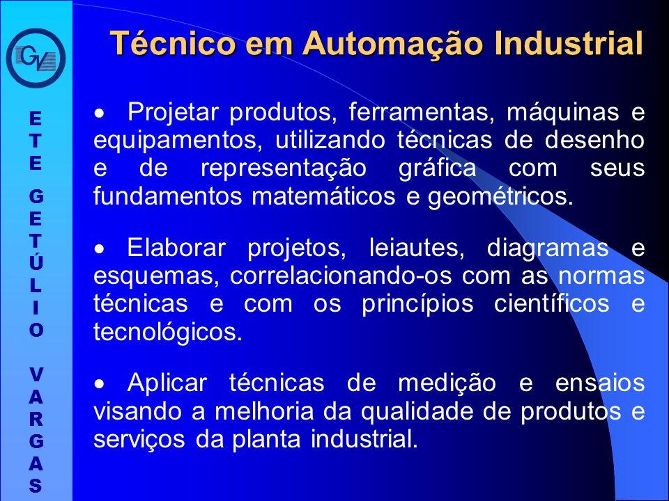 O Técnico em Automação Industrial ao concluir o curso deverá ter adquirido as seguintes competências gerais: Coordenar e desenvolver equipes de trabal