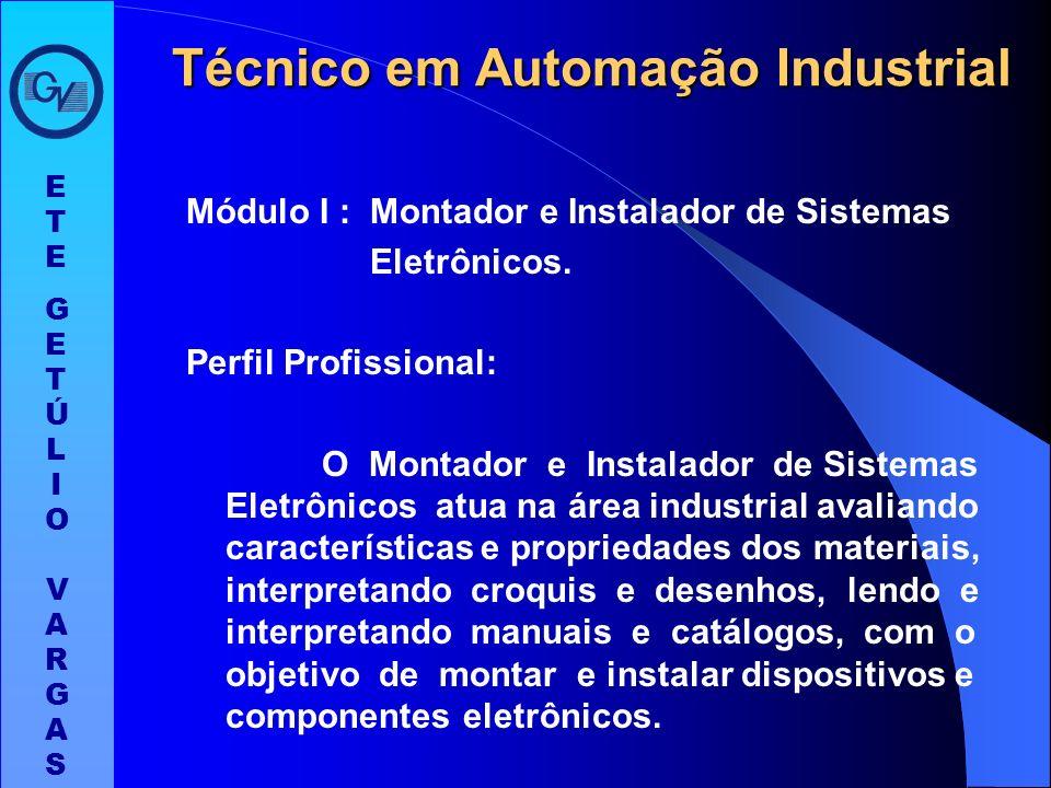 O curso técnico em Automação Industrial é composto por três módulos com 400 horas cada um, totalizando 1.200 horas. Ao completar os três módulos e o e
