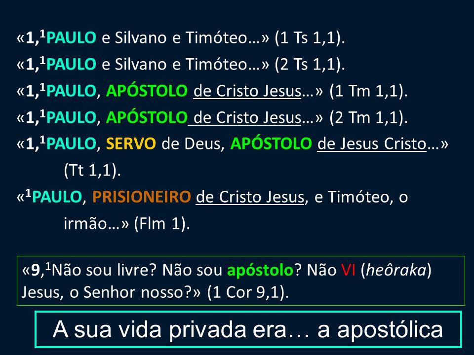 Cristónomo 1 Cor 3,23; Fl 3,8 Theodídaktos 1 Ts 4,9 Theodóchos Mimêtês 1 Cor 11,1; Ef 5,1; 1 Ts 1,6; 2 Ts 3,7 Paulo de Cristo genitivo subjectivo / de posse