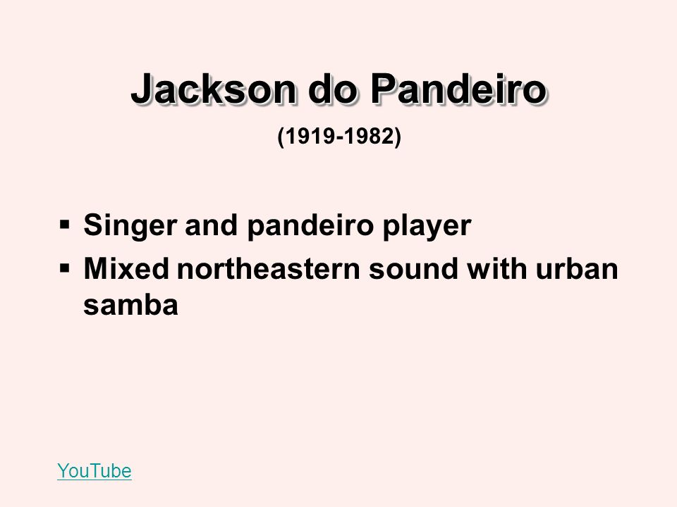 Jackson do Pandeiro Singer and pandeiro player Mixed northeastern sound with urban samba YouTube (1919-1982)