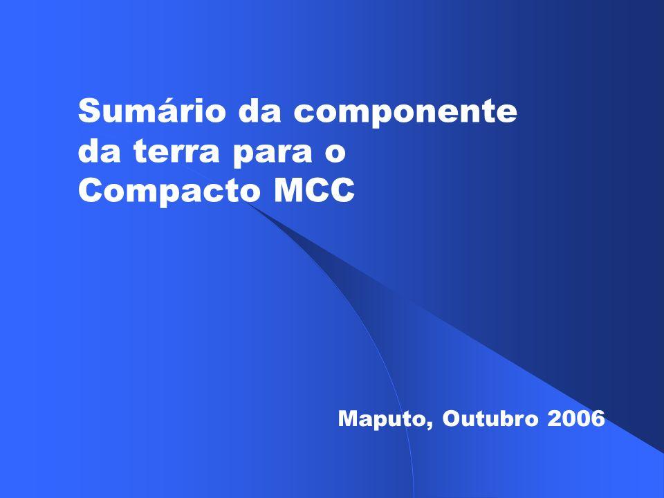 Sumário da componente da terra para o Compacto MCC Maputo, Outubro 2006