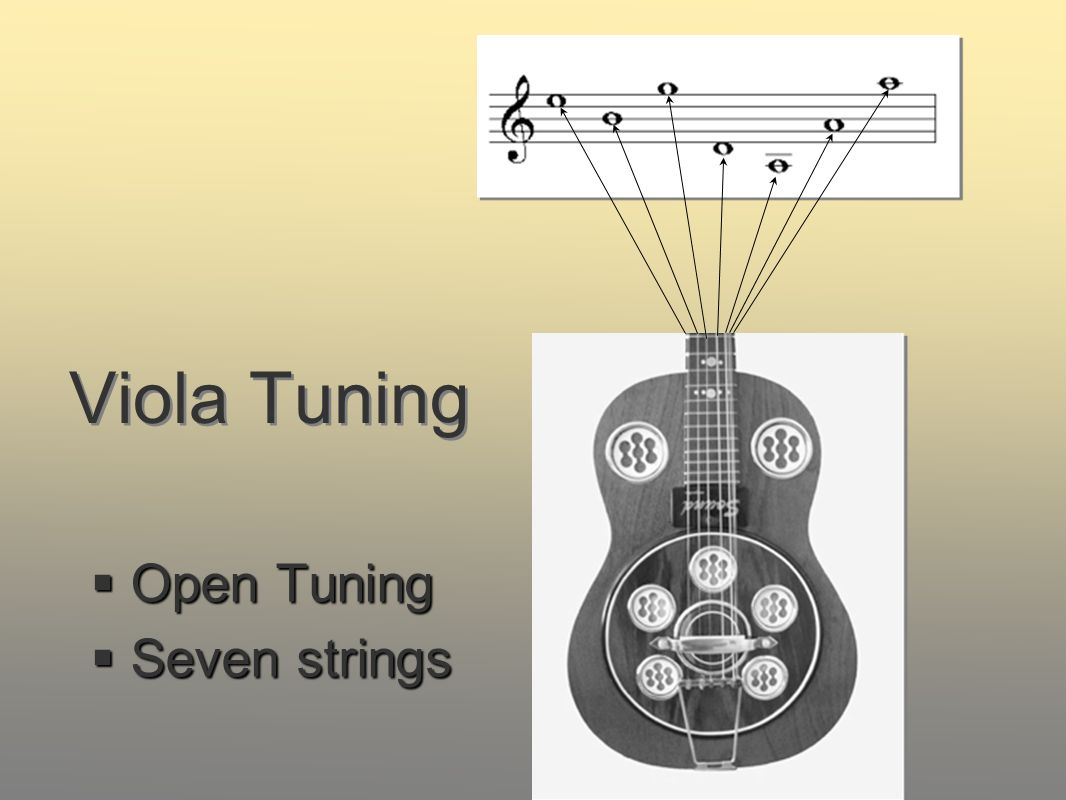 Viola Tuning Open Tuning Open Tuning Seven strings Seven strings