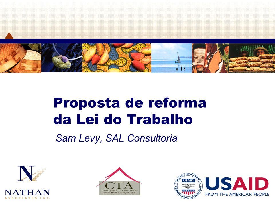 2 2 Proposta de reforma da lei do trabalho Antecedentes Objectivos Principal pretensão Estratégia adoptada Metodologia As grandes mudanças Principais novidades