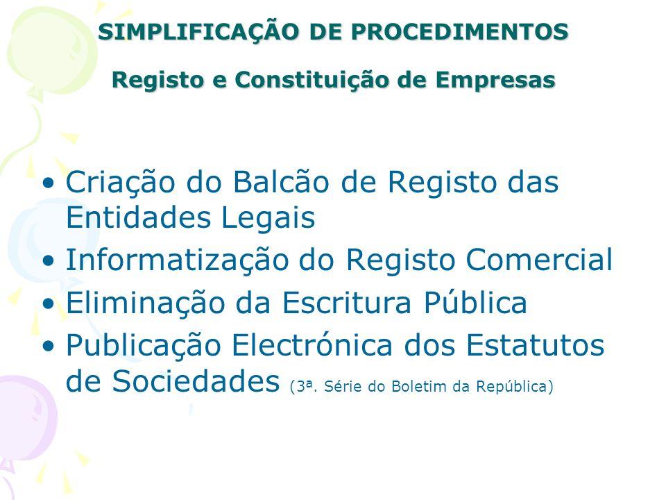 SIMPLIFICAÇÃO DE PROCEDIMENTOS Licenciamento de Actividades Análise dos Fluxogramas de Licenciamento Requisitos Etapas Sequência das etapas Duração do licenciamento
