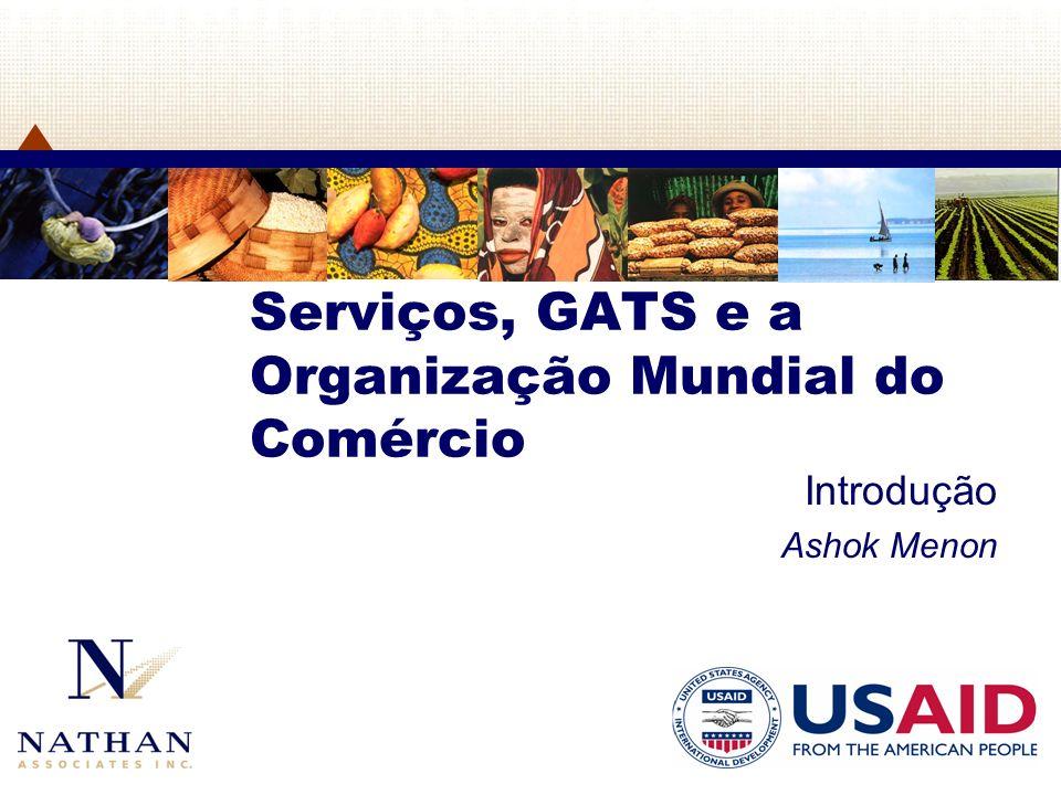 Serviços, GATS e a Organização Mundial do Comércio Introdução Ashok Menon