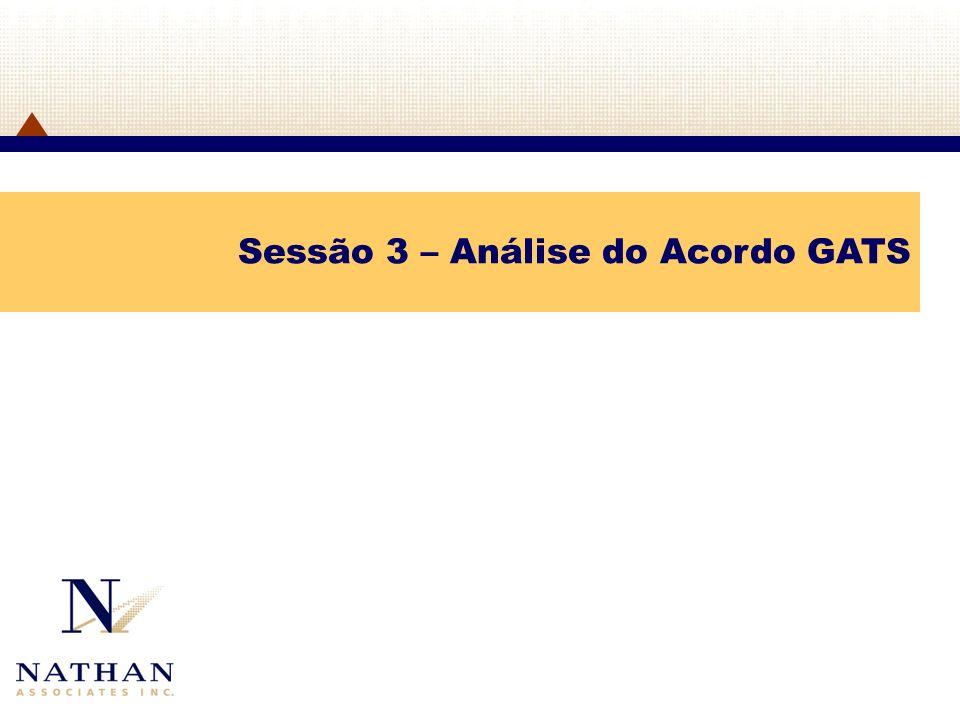 Sessão 3 – Análise do Acordo GATS