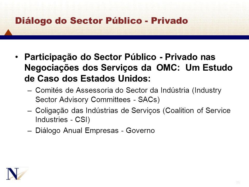 95 Diálogo do Sector Público - Privado Participação do Sector Público - Privado nas Negociações dos Serviços da OMC: Um Estudo de Caso dos Estados Uni