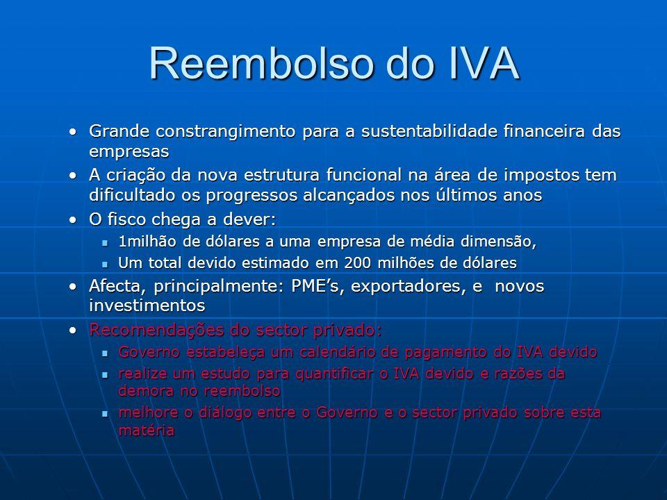 Reembolso do IVA Grande constrangimento para a sustentabilidade financeira das empresasGrande constrangimento para a sustentabilidade financeira das e