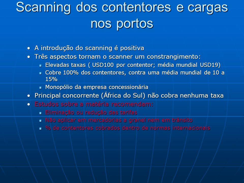Scanning dos contentores e cargas nos portos A introdução do scanning é positivaA introdução do scanning é positiva Três aspectos tornam o scanner um