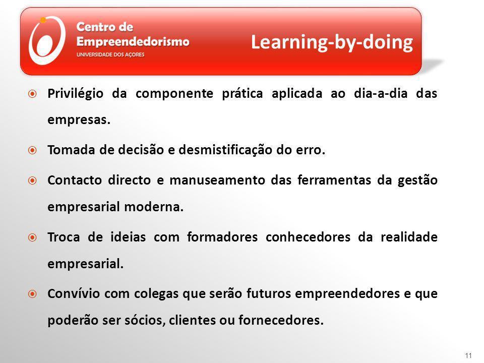 Privilégio da componente prática aplicada ao dia-a-dia das empresas.
