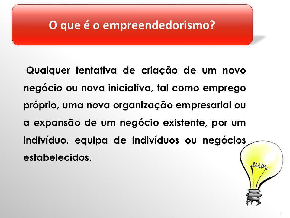 2 Qualquer tentativa de criação de um novo negócio ou nova iniciativa, tal como emprego próprio, uma nova organização empresarial ou a expansão de um negócio existente, por um indivíduo, equipa de indivíduos ou negócios estabelecidos.