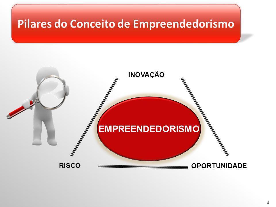 OPORTUNIDADE RISCO INOVAÇÃO EMPREENDEDORISMO 4 Pilares do Conceito de Empreendedorismo
