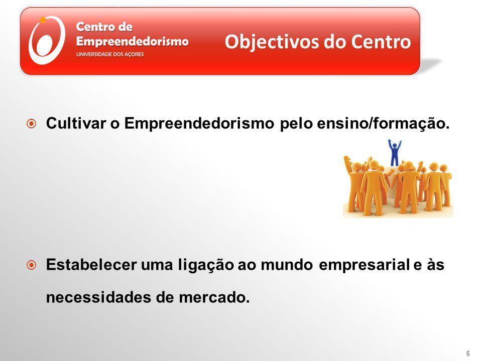 6 Objectivos do Centro Cultivar o Empreendedorismo pelo ensino/formação.