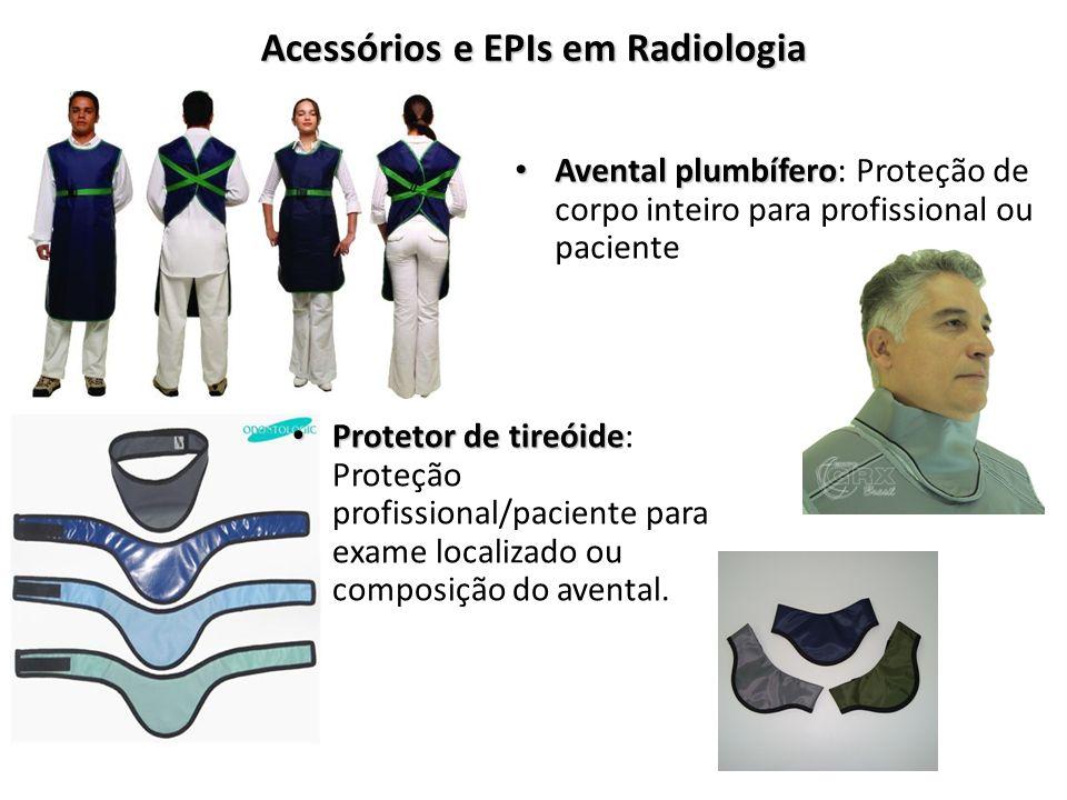 Acessórios e EPIs em Radiologia Avental plumbífero Avental plumbífero: Proteção de corpo inteiro para profissional ou paciente Protetor de tireóide Pr