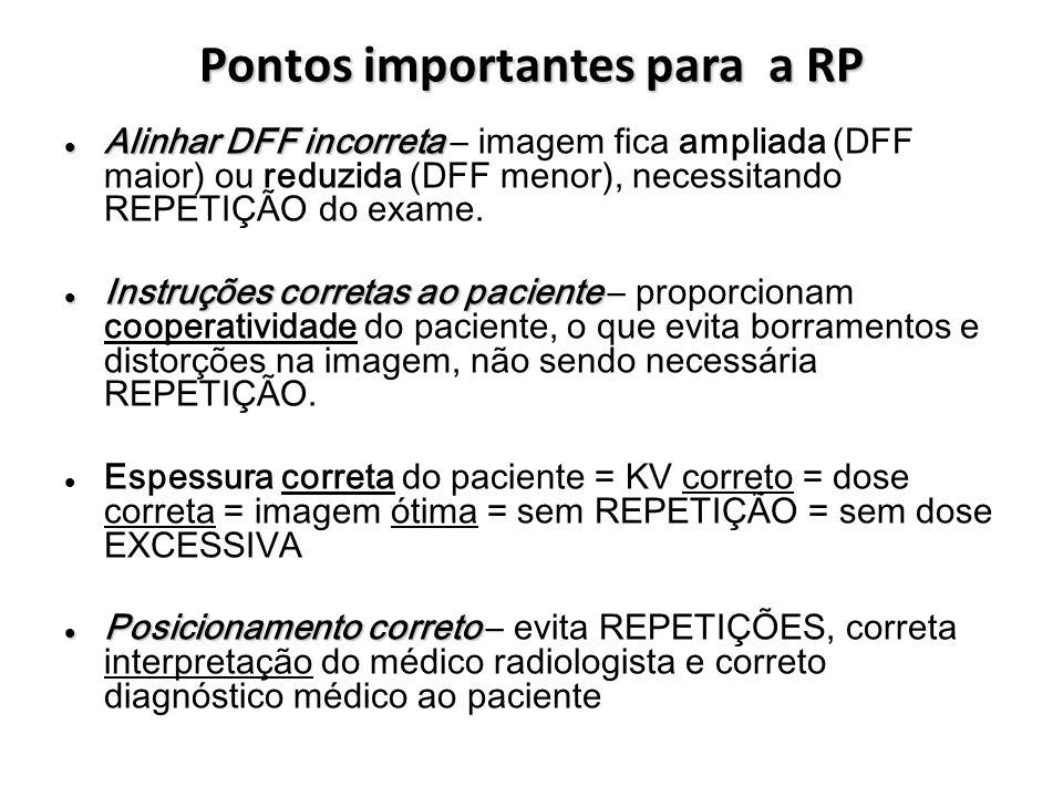 Pontos importantes para a RP Alinhar DFF incorreta Alinhar DFF incorreta – imagem fica ampliada (DFF maior) ou reduzida (DFF menor), necessitando REPE